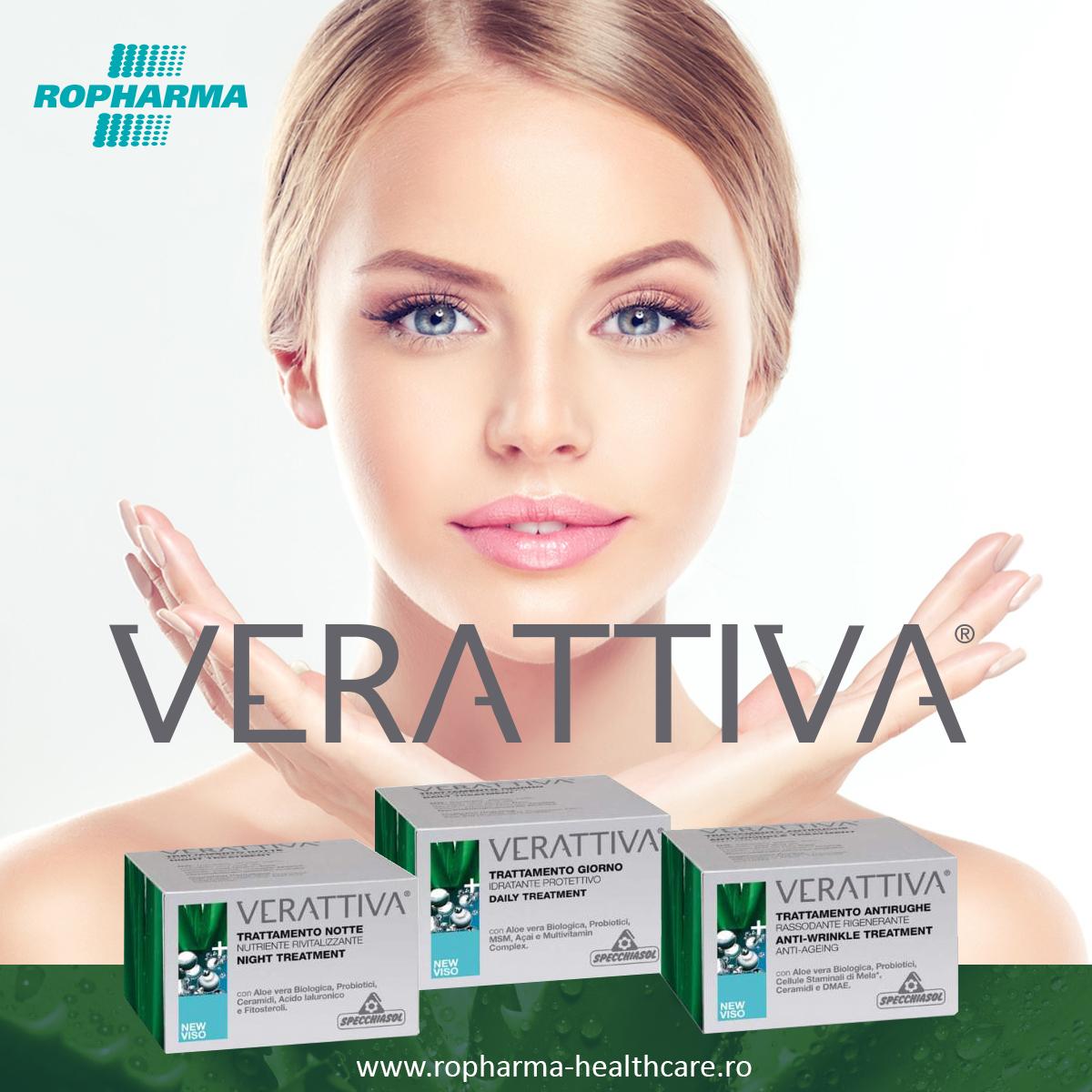 Ropharma a lansat în România gama de produse cosmetice italiene Verattiva!