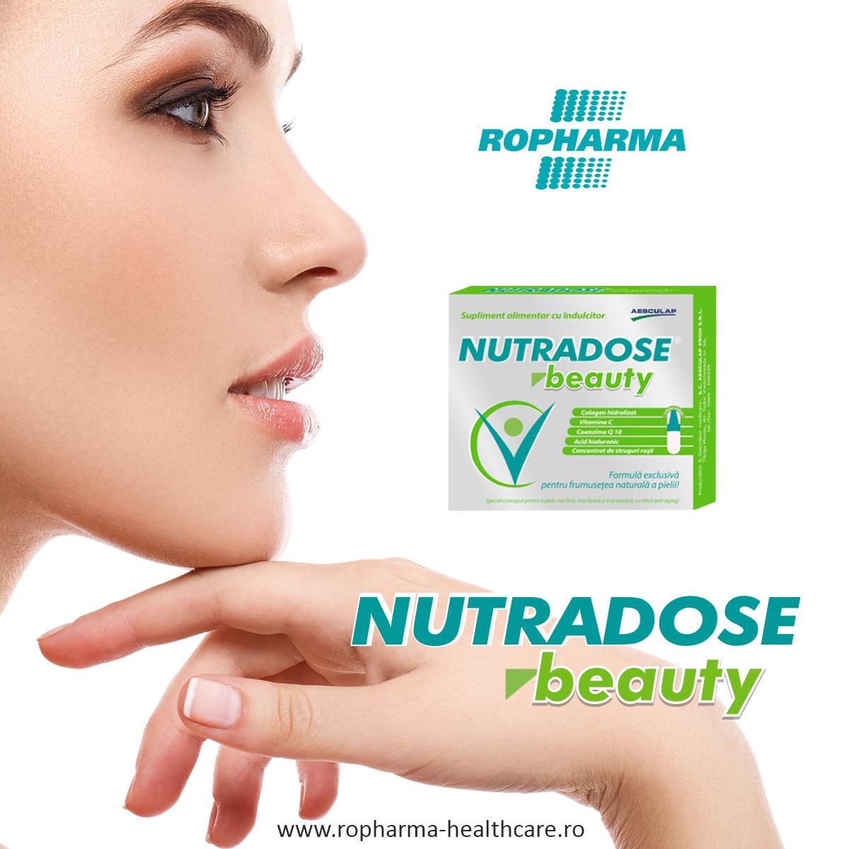 Nutradose Beauty, formula exclusiva pentru frumusetea naturala a pielii